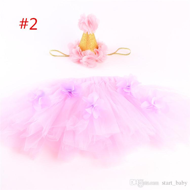 ins infant tutu skirts baby girls crown headbands + newborn flower tulle tutus skirt and tops sets newborn photography props pettiskirts B1