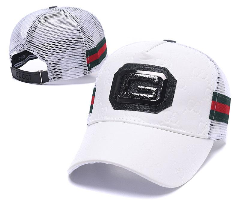 2019 New Luxury PU Leather Ball Hat Mesh Back Sun Visors Caps Adjustable Golf  Cap Classic Red Green Baseball Cap Top Quality Curved Brim Hats From ... cf1be7d9eff6