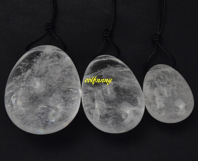 3 adet / takım Yeşim Yumurta Delinmiş Kristal Topları Doğal Kaya Kuvars Kegel Egzersiz Şifa Reiki Kadınlar Için Yoni Yumurta Sağlık
