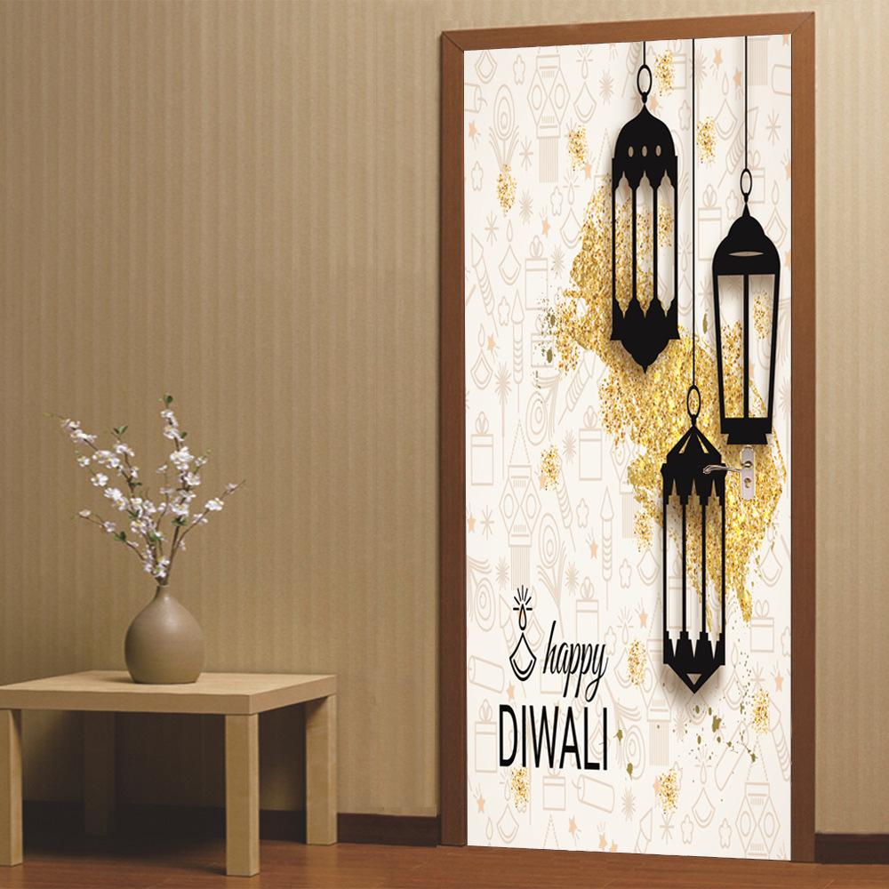 Popular Ancient Lamp Cats And Birds Wall Sticker Wall Mural Home Decor Room Kids Decals Wallpaper Factories And Mines Home Improvement