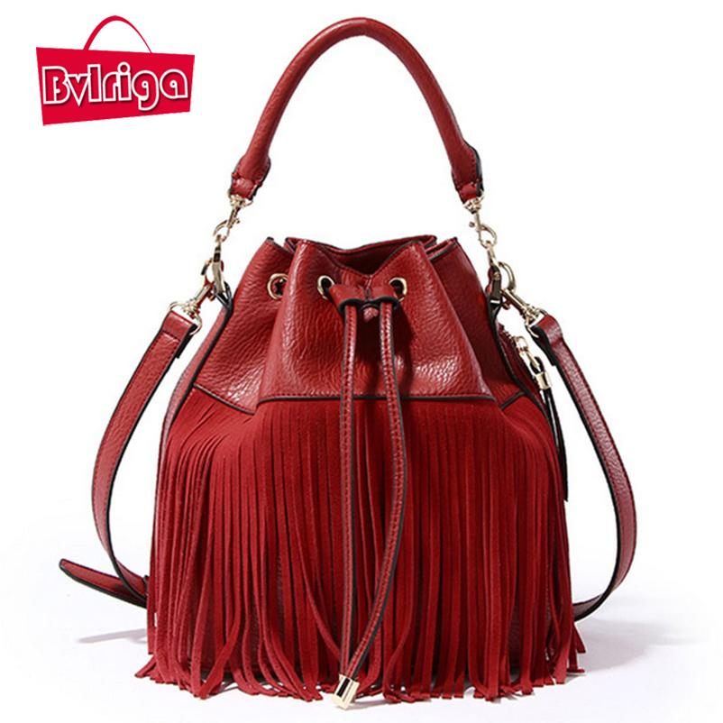 446e54da1fe1 BVLRIGA Brand 2017 Small Summer Women Handbag Genuine Leather Shoulder Tote  Bag Fringe Tassel Female Messenger Bags Wedding Red Shoulder Bags Cheap  Shoulder ...