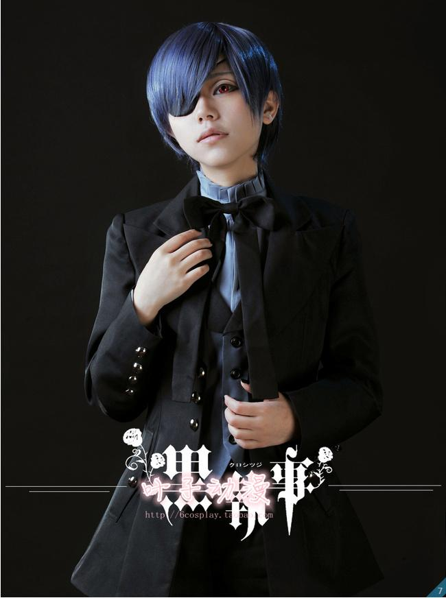 New Black Butler Kuroshitsuji Ciel Phantomhive Cosplay Evil Black Uniform Halloween Costumes for Women/Men S-XL