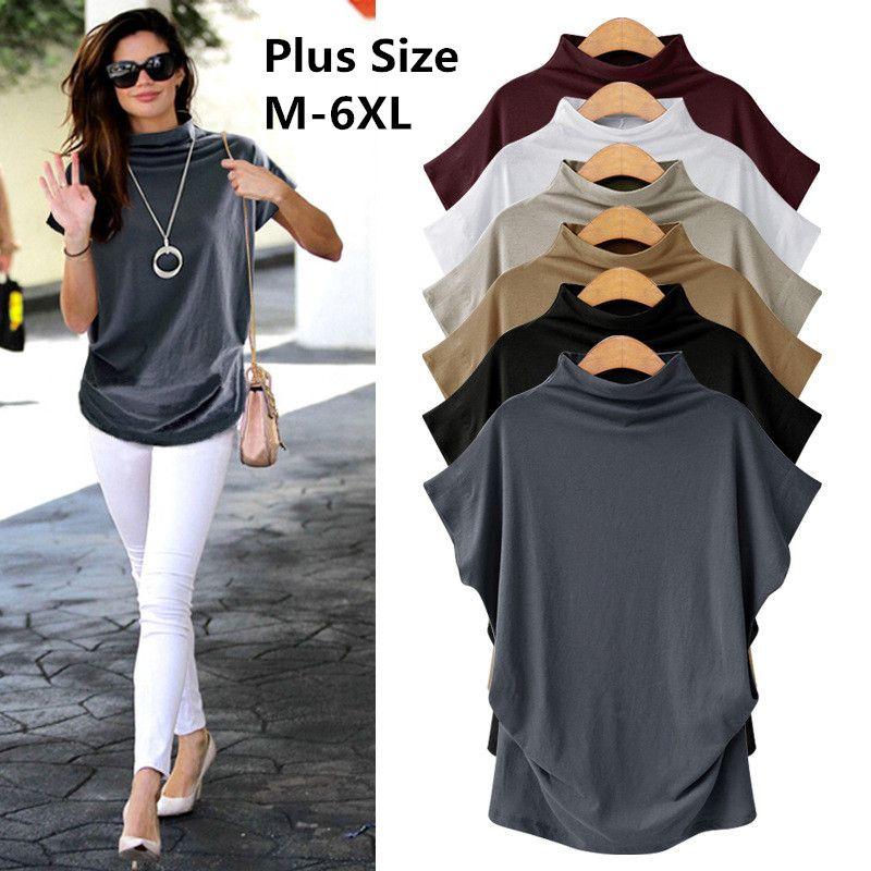 Cotton T Shirt Women 2018 New Summer Plus Size Womens Shirt Top O-neck  Fashion Womens Shirt Plus Size S-6XL Online with  36.55 Piece on  Chenhanyang s Store ... 467f69b8057b