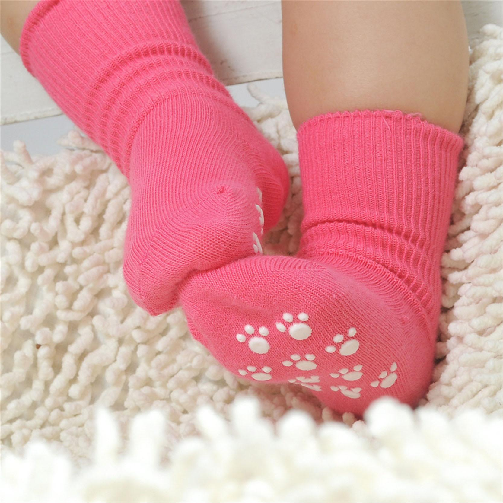 New Born Baby Socks Cotton Anti Slip Sport Children Socks For Girls