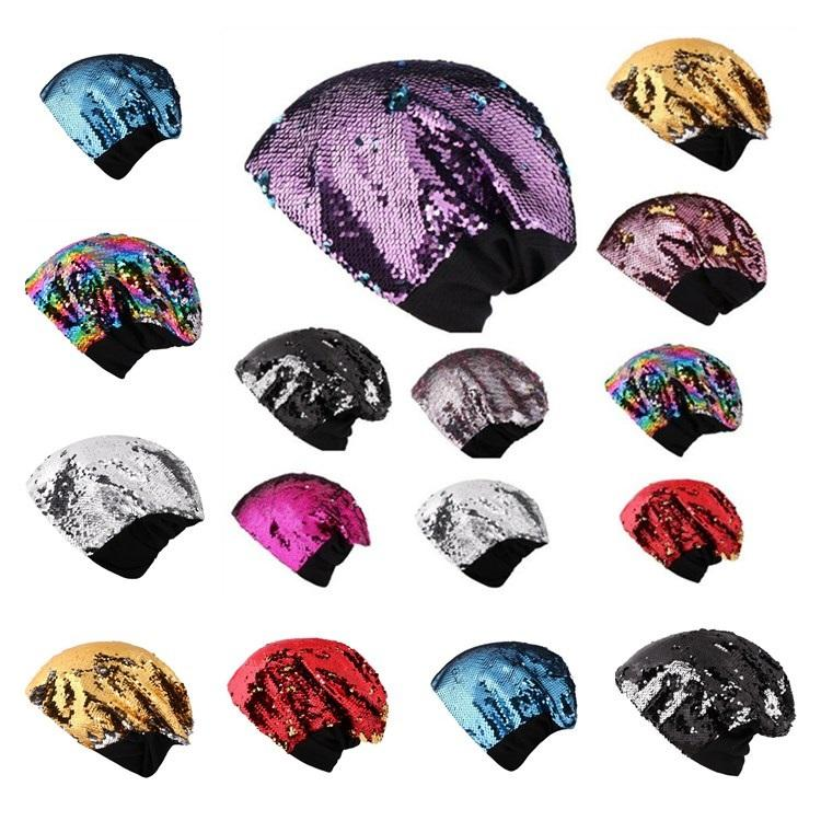 10cfba013e4 New Factory Direct Sale Wholesale European And American Sequins Ladies  Knitted Party Hat Leisure Keep Warm Ear Protection Head Cap T7I353 Birthday  Party ...