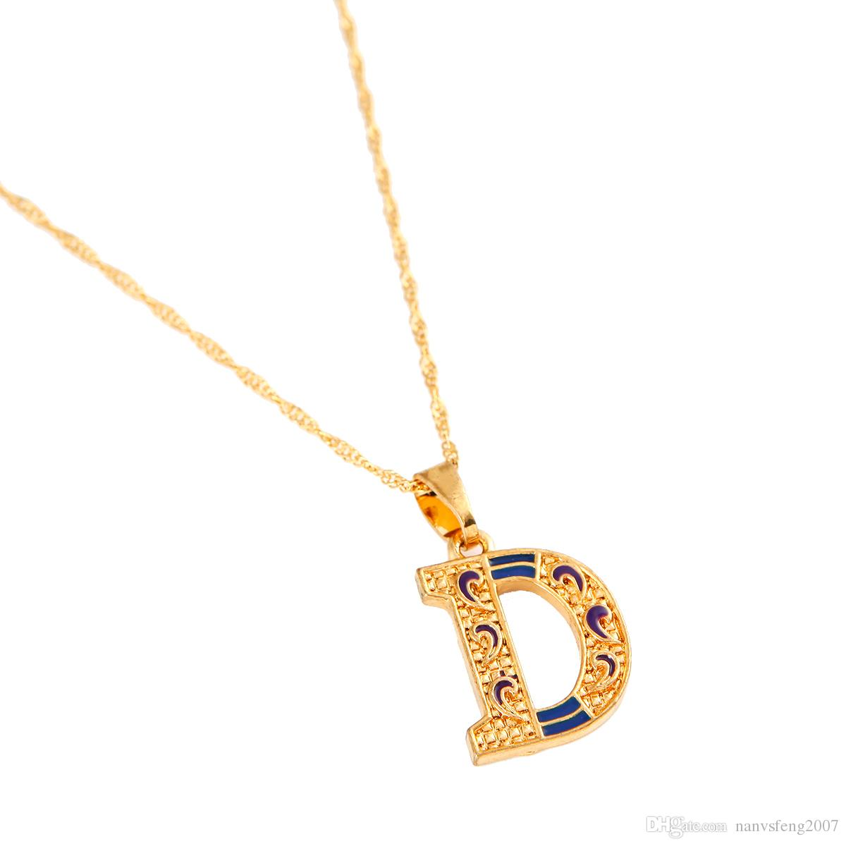 Letter D Personalized Jewelry Pendant Necklace Intial Pendant Necklace
