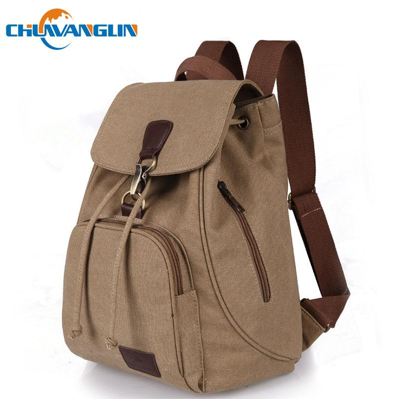 f7c62b111316 Chuwanglin Fashion Canvas Women Backpack Casual Pure Color Woman Travel Bag  Vintage Large Capacity Lady S School Bag Laptop Black Leather Backpack  Backpacks ...