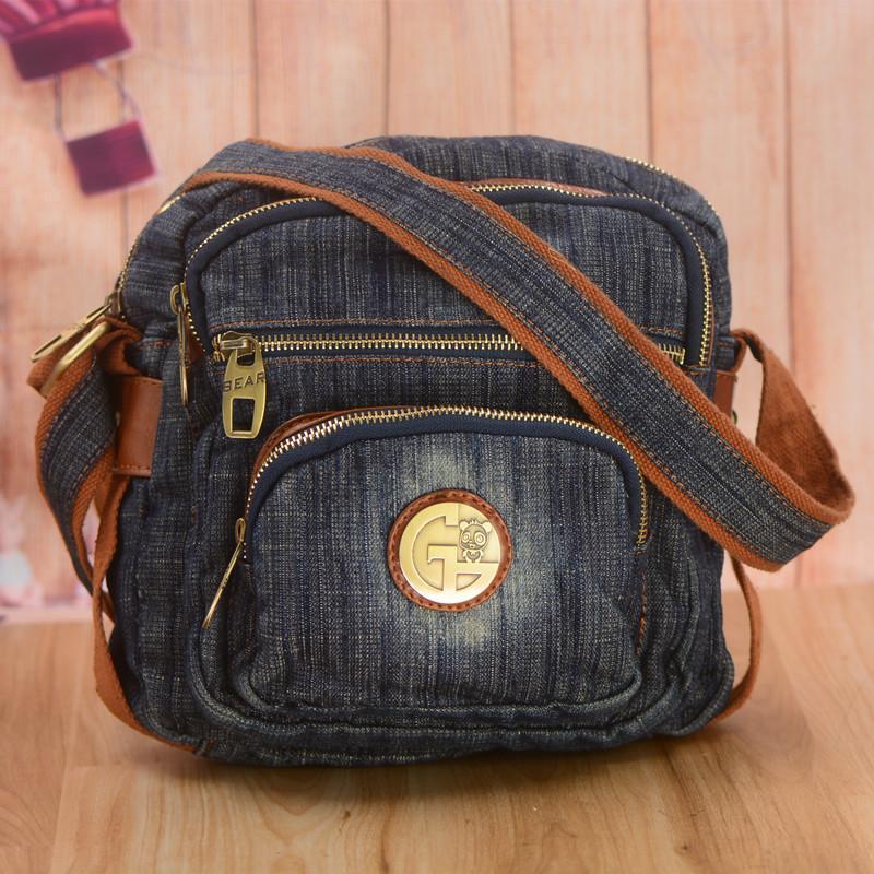 Casual Small Square Denim Bag For Woman Designer Leisure Blue Jeans Bags  Female Shoulder Bag Crossbody For Travel Cheap Designer Handbags Black  Handbags ... 068f38839bb41