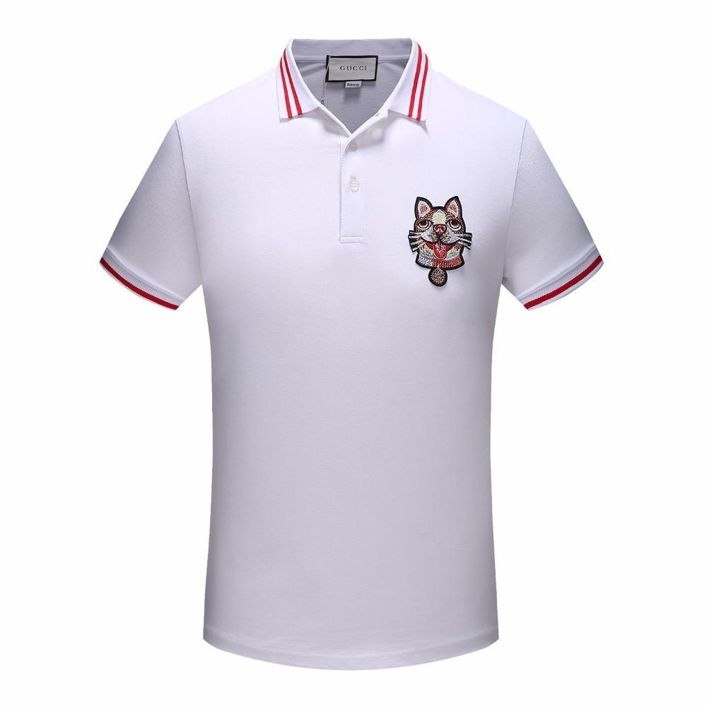 16961 New Brand Embroidery T Shirts For Fashion Men Little Dog Print