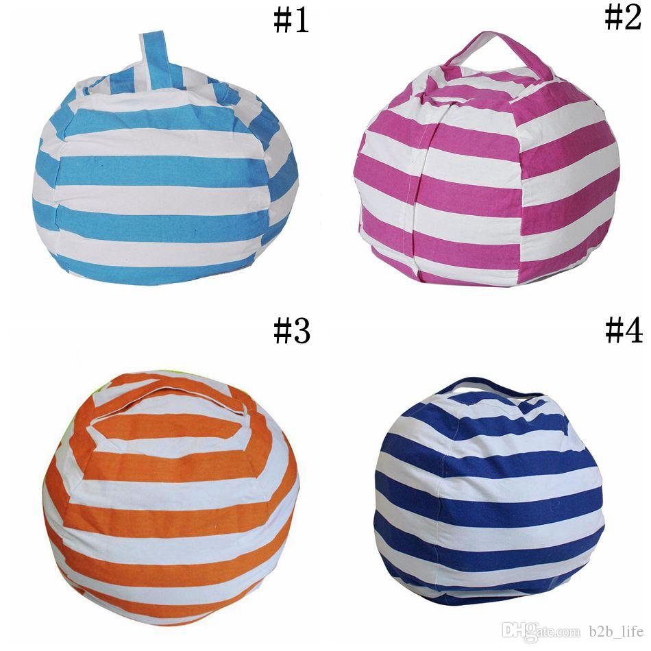 Stripe Bean Bag 18 Inch Beanbag Chair Kids Bedroom Stuffed Animal