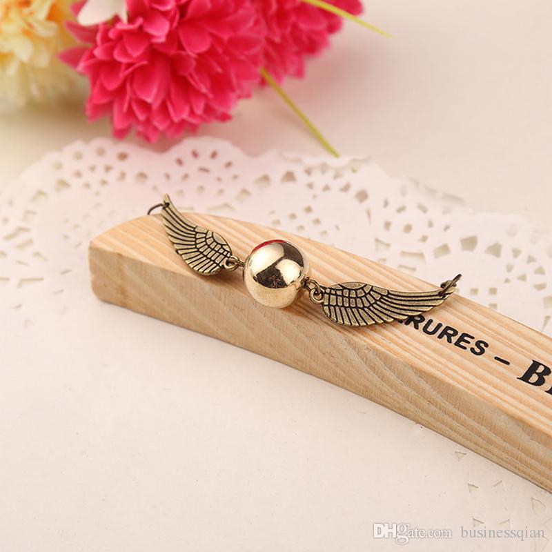Moda Harry Quidditch Golden Snitch pulseras para mujeres y hombres Potter alas de bolas lindas pulseras de cadena bonitos regalos