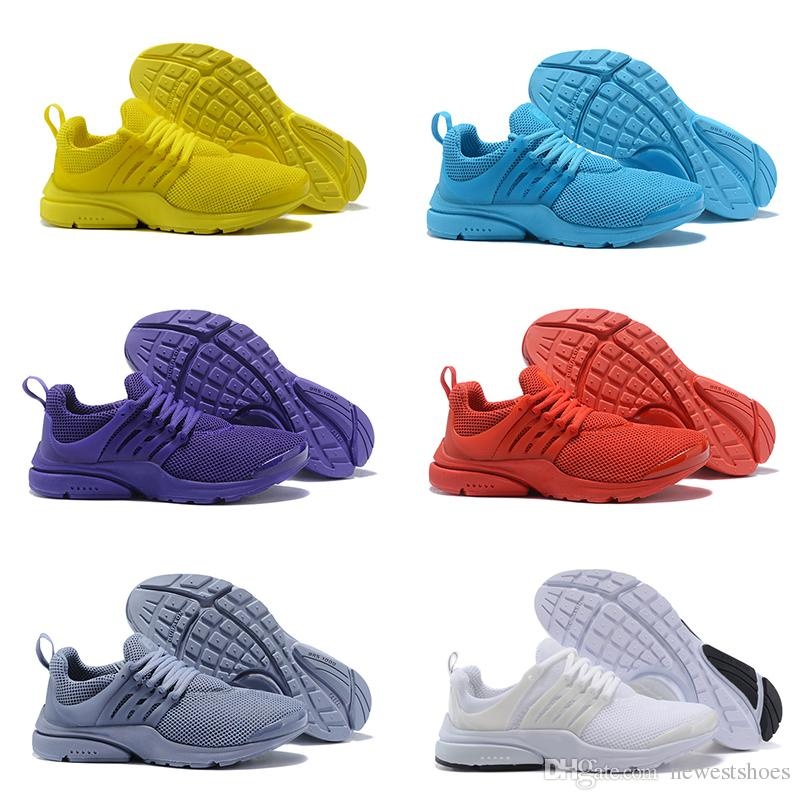 Presto Yellow 5 Ultra BR QS Purple Red Grey Black White Running Shoes Women  Mens Prestos Casual Jogging Designer Sneakers Size 5.5 12 Spikes Shoes Best  ... 43807a5aa174