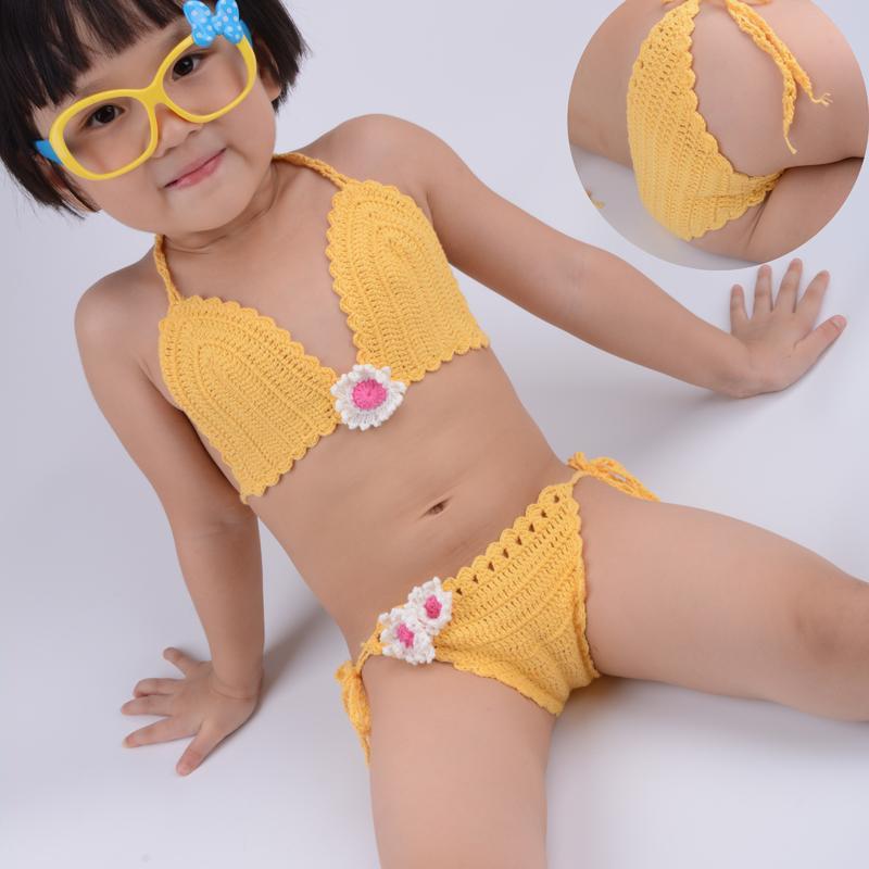 Großhandel Mädchen Bademode Baumwolle Häkeln Bikini Badeanzug Sommer ...