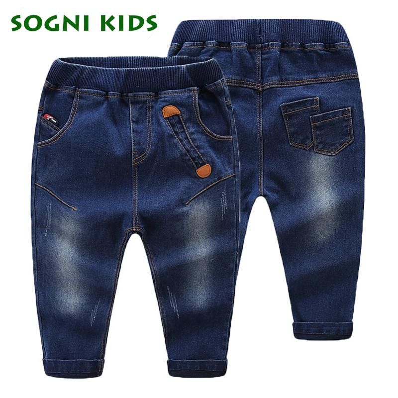 Baby Girls Boys Jeans For New 2017 Classic Whiskering Straigh Jeans Infantil Pants Children Cotton Trouser Fashion Kids Clothes