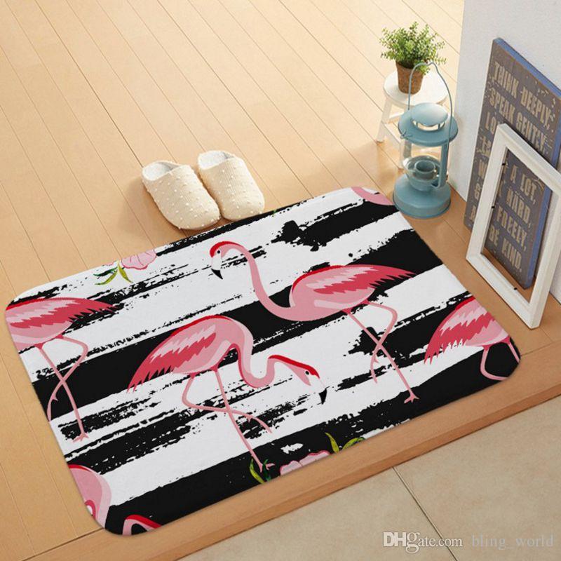 Flamingo Halılar kaymaz Zemin Halıları Ev Su Emme Paspaslar Yatak Odası Banyo Oturma Odası Aksesuarları 16 Tasarımlar YW325