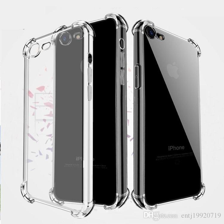 d051c95cb8b9b Für iPhone XS Max XR Transparent Telefon Fall Vier Airbags gegen fallende  Silikon Schutzhülle für iPhone X 6 7 8 Plus
