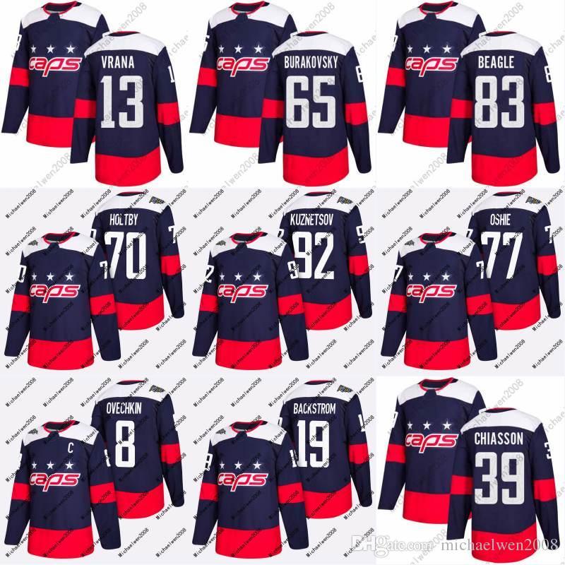 various colors 52e2e cf1e8 Mens Womens Youth 13 Jakub Vrana Jersey 2018 Stadium Series 65 Andre  Burakovsky 39 Alex Chiasson Washington Capitals Custom Hockey Jerseys