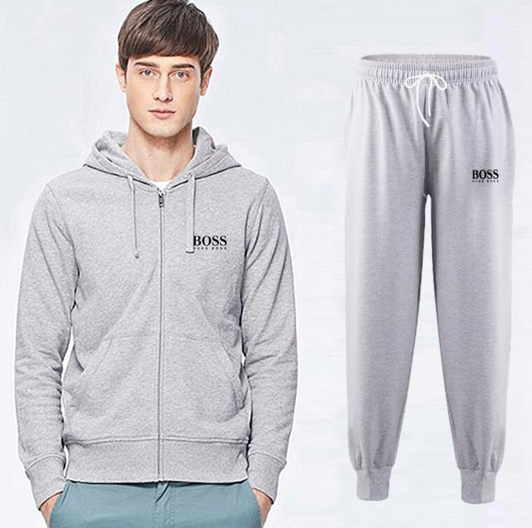2018 Männer Trainingsanzug Männer Sport Anzug weiß billig Männer Sweatshirt und Hose Anzug Hoodie und Hose Set Sweatsuit Männer