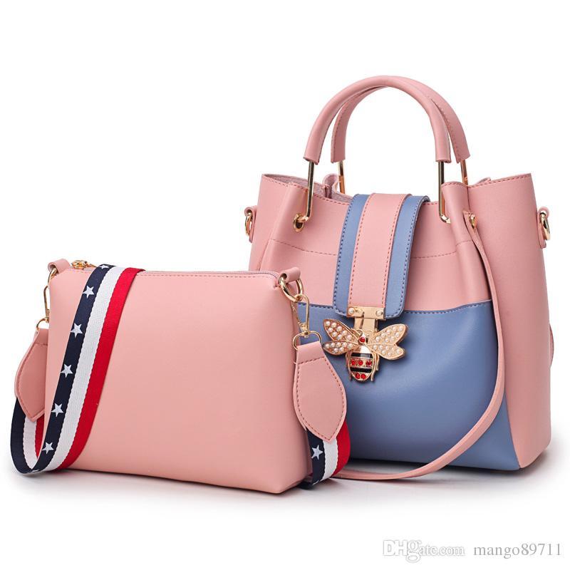 Ladie Shoulder Crossbody Bag Soft Leather PU Female Fashion All Purpose  Luxury Brand High Quality Set Women Handbags Pink Handbags Branded Handbags  From ... 42fce92c9d
