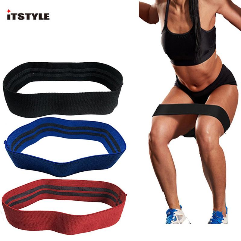2019 Non Slip Hip Circle Loop Resistance Band Workout Exercise Legs