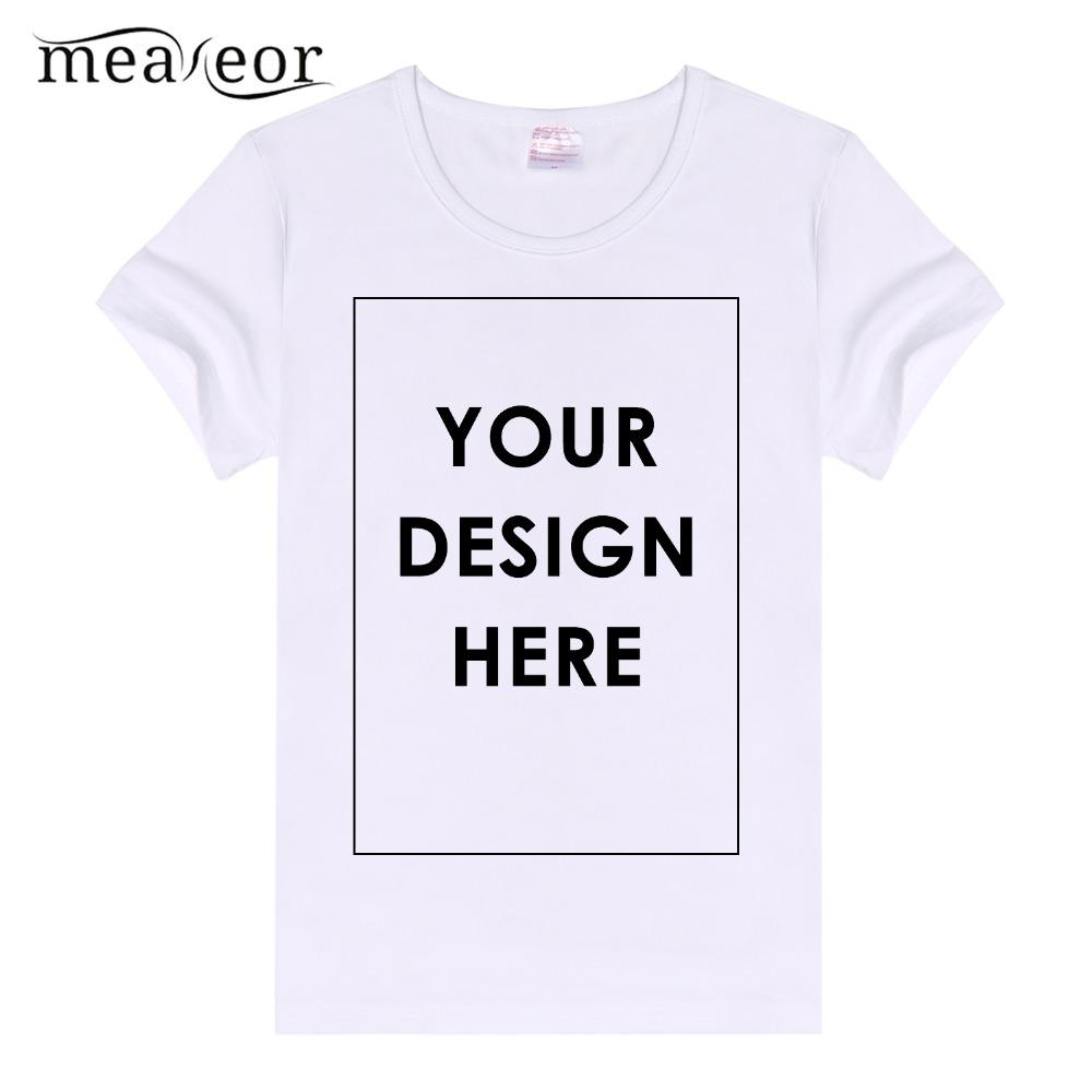 Meaneor Soft Casual Basic Shirt Plain Crew Neck Slim Fit Women Short Sleeve Custom  T Shirt White Custom Printed Tops Tees Crazy Tee Shirts Online Cool ... f331a54c6
