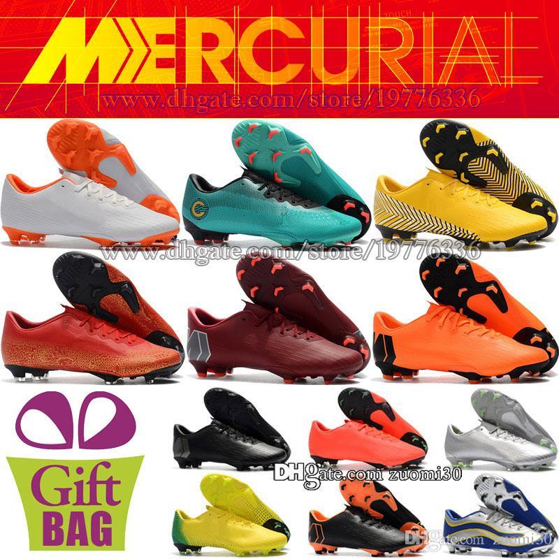 Compre Barato Novo CR7 Superfly Crianças Sapatos De Futebol Vapor Mercury  XII Pro FG Mulheres Botas De Futebol Ronaldo Futebol Neymar Chuteiras 35 46  De ... fc250e51b3534