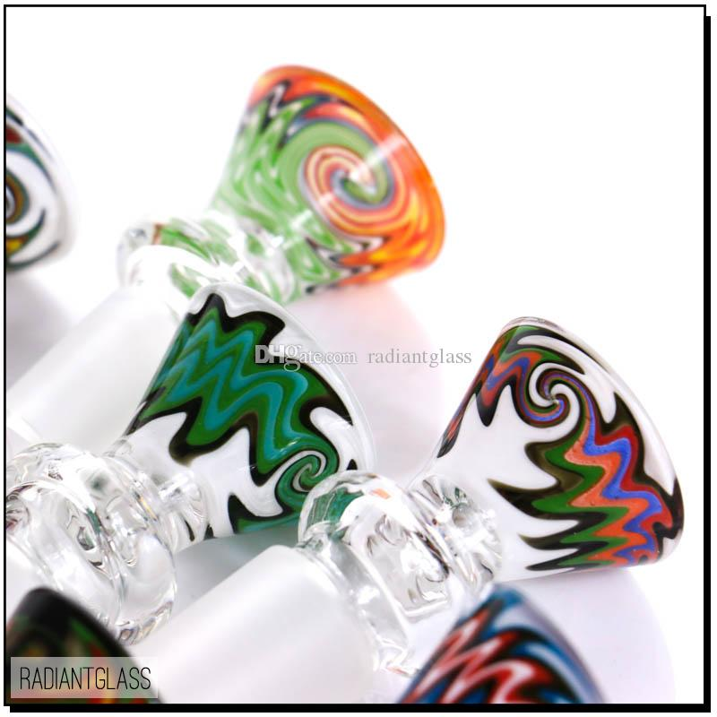 Hookahs new design glass smoking 14.5 &18.8 joint ,G.O.G bowl for water pipe