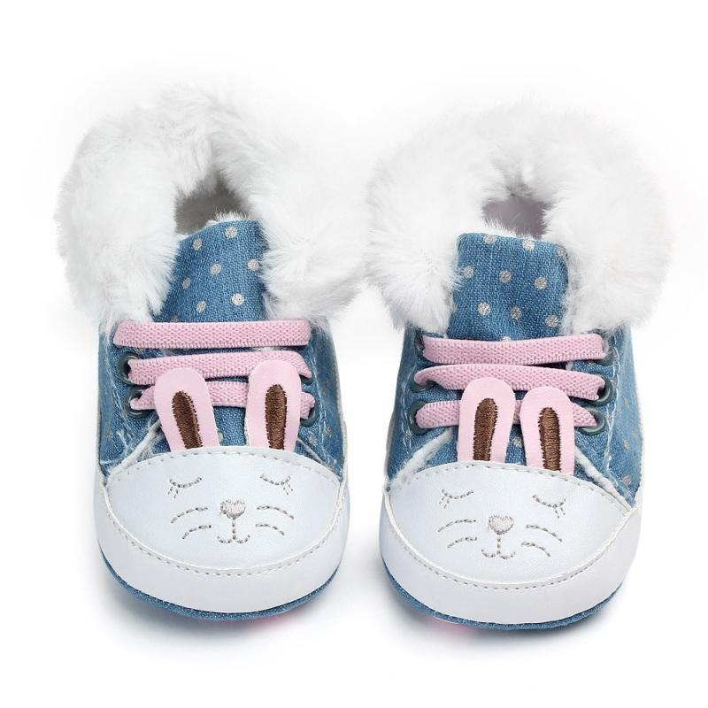 0c7a2bb8a86 Warm Baby Girls Boots Winter Newborn Shoes Warm Dot Print Infant Snow Boots  Plus Velvet Baby Shoes 0 12M Toddler Girl Winter Boots Waterproof Boots  Kids ...