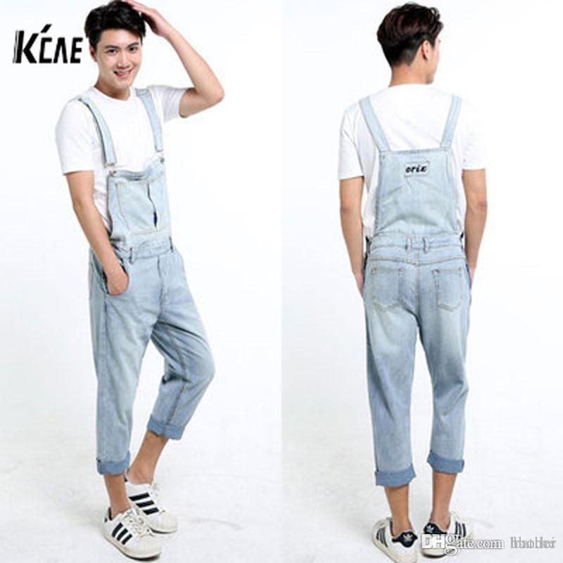 3888f582de1 2019 Wholesale 2016 New Brand Men Denim Overalls Shorts Vintage Ligh Blue  Washed Plus Size S 5XL Jeans BiB Overalls Jumpsuits From Haodei, $99.27 |  DHgate.