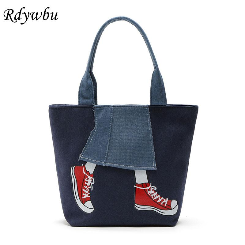 06d12af6a21e Cutce Denim Shoulder Bags Women S New Casual Leg Shoe Printed Tote Handbag  Jean Travel Shopping Bag Mochila Bolsa B145 Handbags For Sale Personalized  Bags ...
