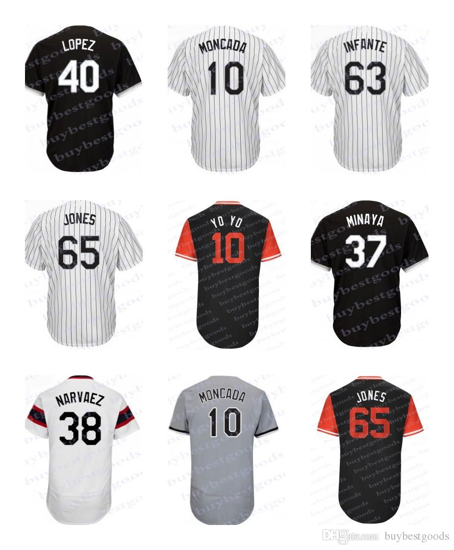 b4587b5a7c3 ... custom all stiched baseball jerseys from d8d0e 833e9  coupon code for  2018 mens chicago jersey 10 yoan moncada 27 lucas giolito 63 gregory infante