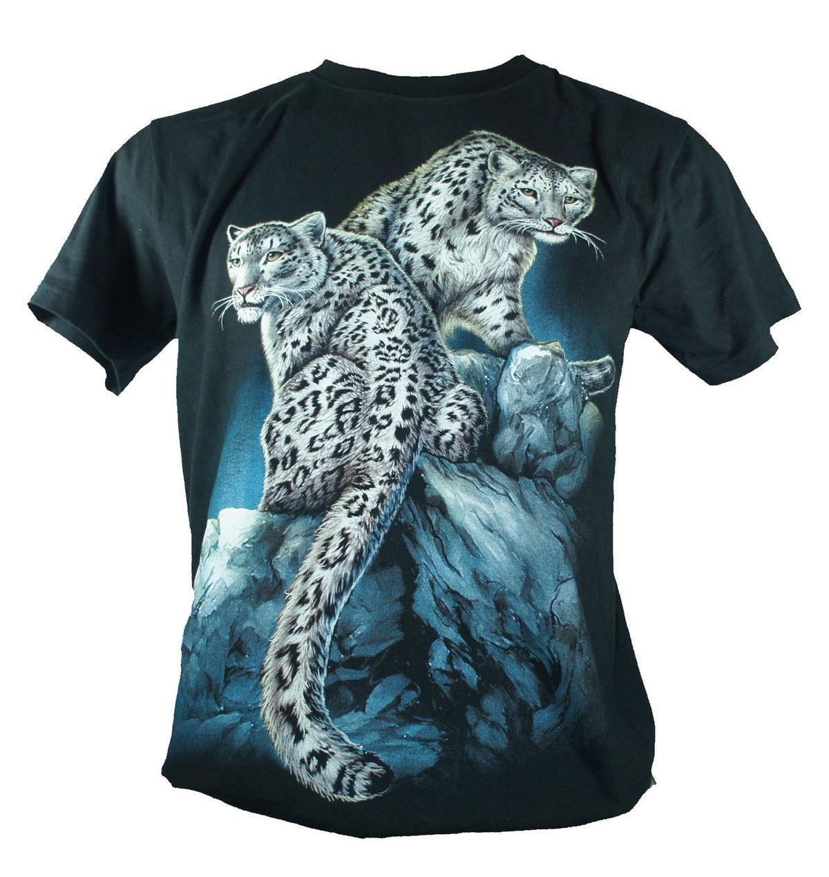 058298c06f29 Snow Leopard Large Size New 2018 New Arrival Men T Shirt New Fashion Summer  Straight 100% Cotton T Shirt S Tees Shirts From Gaobei03, $11.48| DHgate.Com