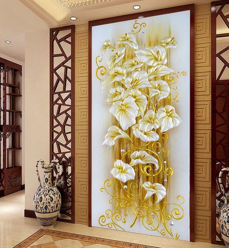 2018 neue vertikale version reichen baum diy 5d diamant malerei lila lilie diamant stickerei blume symbol kreuzstich kits mosaik bild