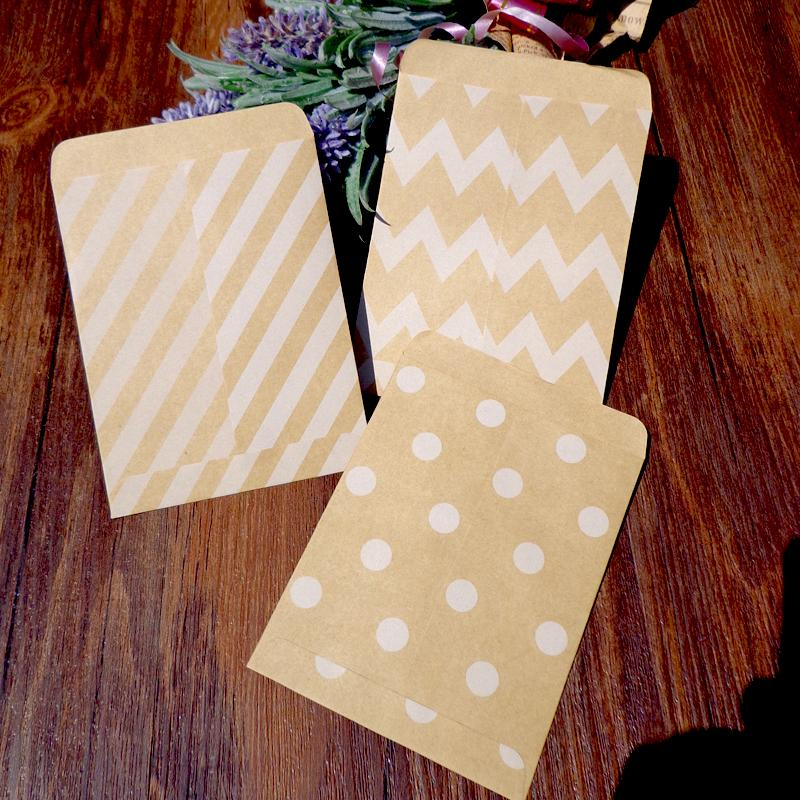 2019 Creative Kraft Envelope Dots Striped 3 Designs Gift Card