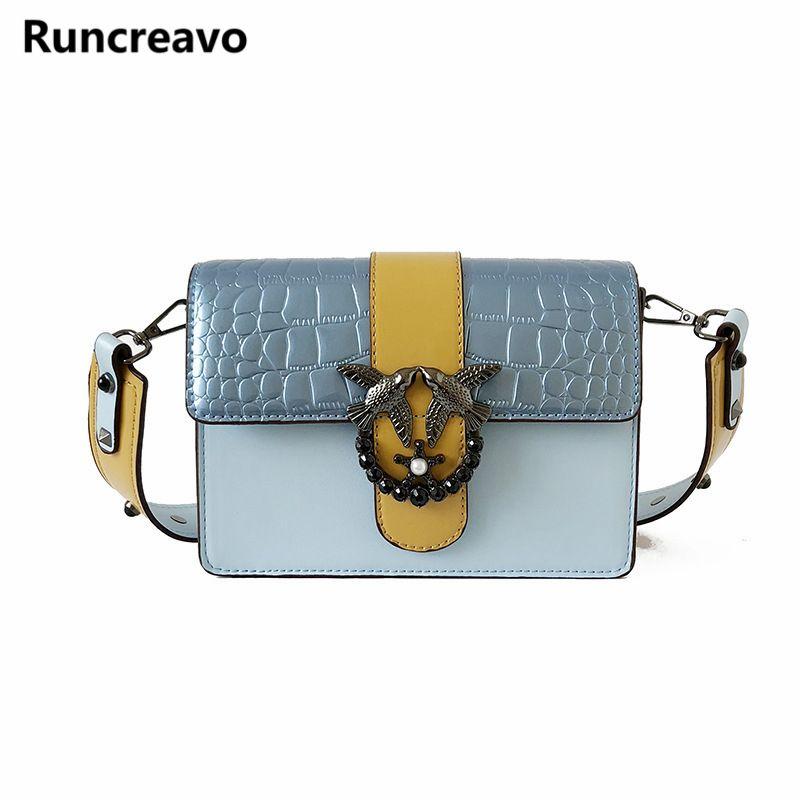 e61b3e87ea4d 2018 New Luxury Double Birds Design Women Handbag New Fashion Messenger Bag  Brand Alligator PU Leather Bags Female Shoulder Bag Designer Handbags  Crossbody ...
