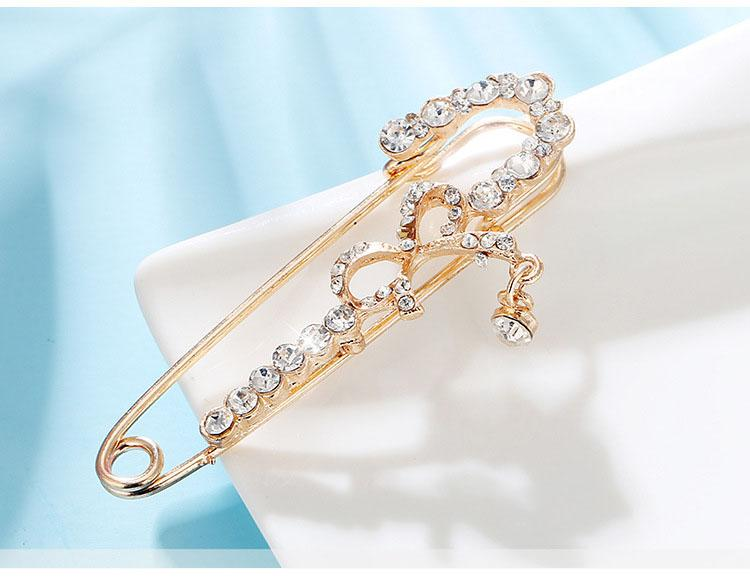 High-grade Fashion Brooch Pin Buckle Pearl Flower Scarf Buckle Bow Knot DIY Clothing Decoration Buckle