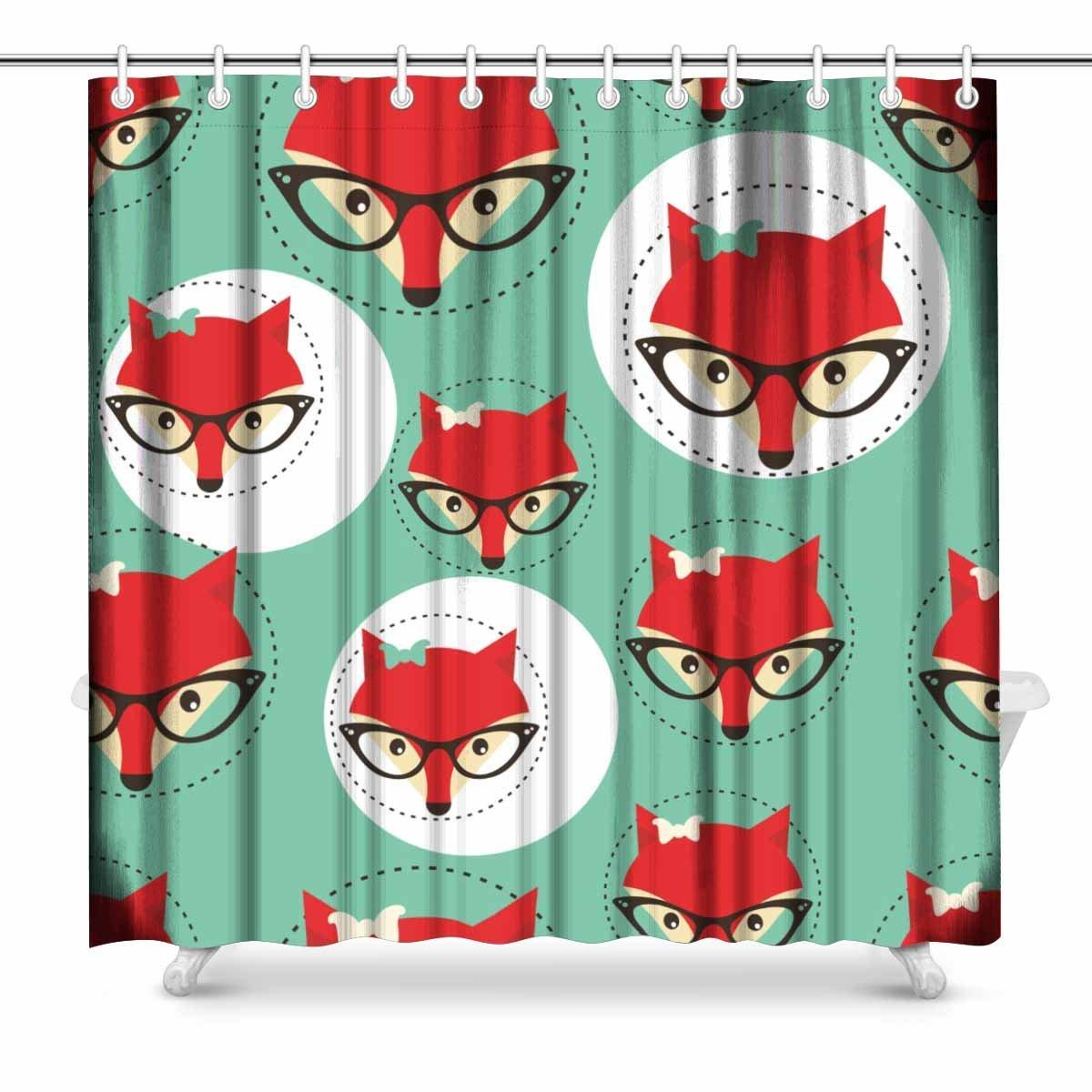 2018 Aplysia Foxes Faces In Glasses Bathroom Accessories Shower ...