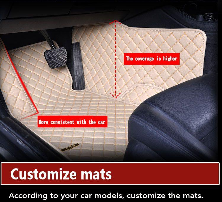 Wholesale Custom Car Floor Mats for MINI COOPER COUNTRYMAN CLUBMAN CABRIO JOHN COOPER WORK Car Accessories Auto Floor Mat Carpets Automatten