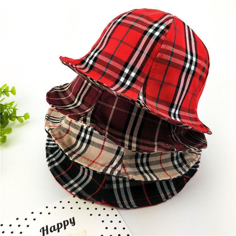2019 Autumn Girls Cap Fashion New Kids Double Sided Plaid Hat Children  Accessories Kids Lattice Fedoras Baby Visor Kids Chirstmas Gift F0518 From  Summervivi ... 4fb145ce1cb