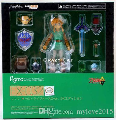 The Legend of Zelda Link A Link Between Worlds Figma EX-032 / Figma 284 PVC Action Figure Collectible Model Toy 2 Types