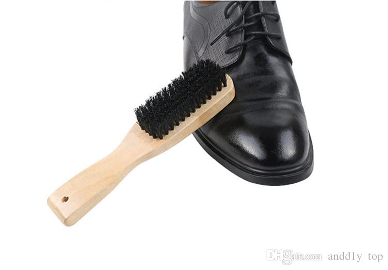 Long-handle brush Soft-bristled Shoe Brushes Solid Wood Material Durable Cleaning Polishing Moisture-proof leather goods Cleaning Tools