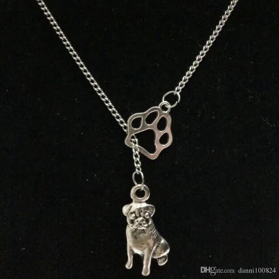 Moda Vintage gümüş Greyhound Köpek Dachshund Dogcat / köpek pençe Beagle charm Kolye kazak zinciri uygun kolye DIY takı A67