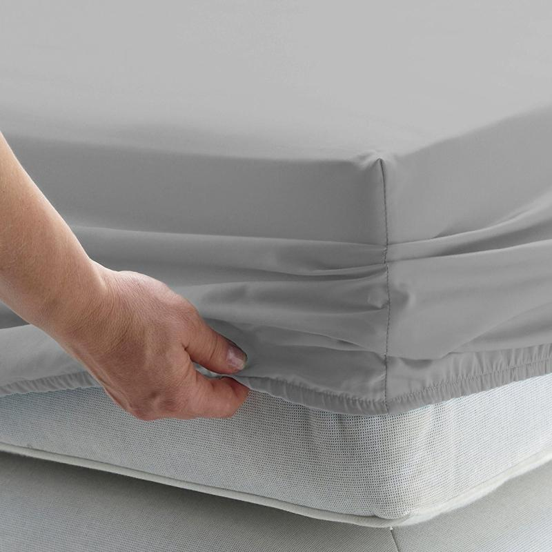 2019 Solid Bed Sheet Fitted Sheet With Elastic Band Plain Bedding