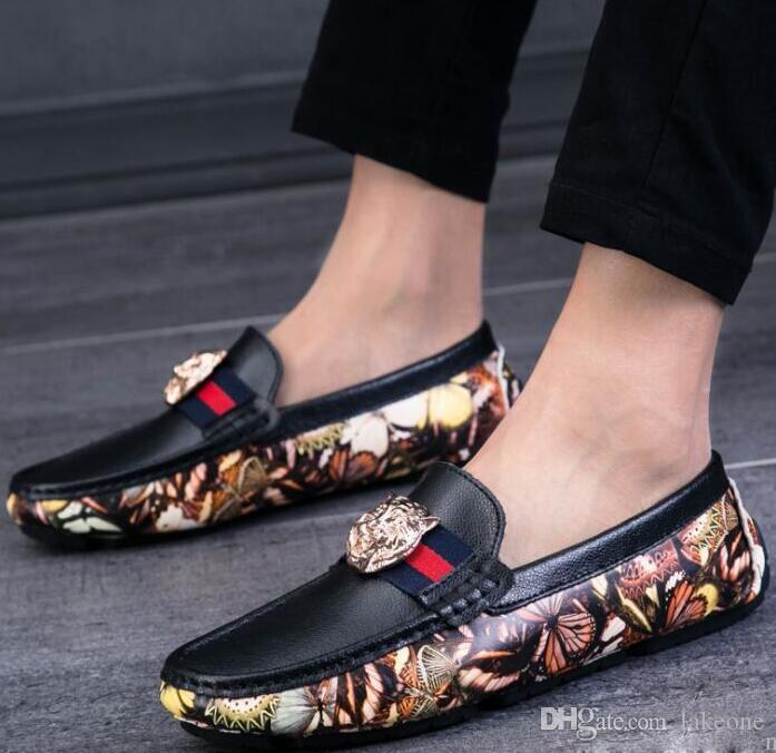 9f679738797a1 Acheter Chaussures Pour Hommes En Gros En Cuir Véritable Slip On Black  Chaussures Mode Mocassins Hommes Mocassins Chaussures Italian Designer De   64.88 Du ...
