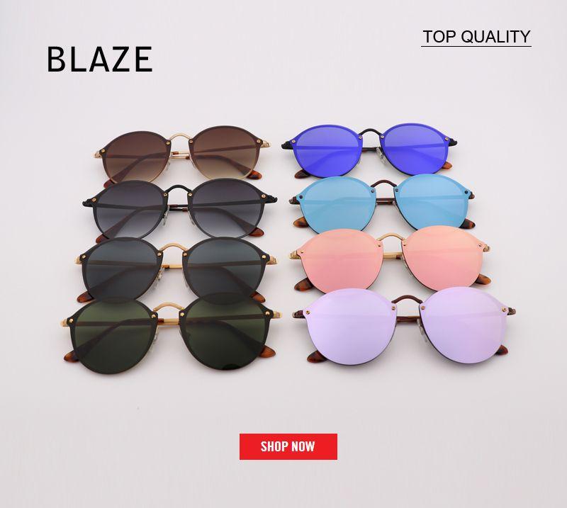 0084b40c7a RLEI DI Fashion Trend 3574 BLAZE ROUND Style Sunglasses Vintage ...