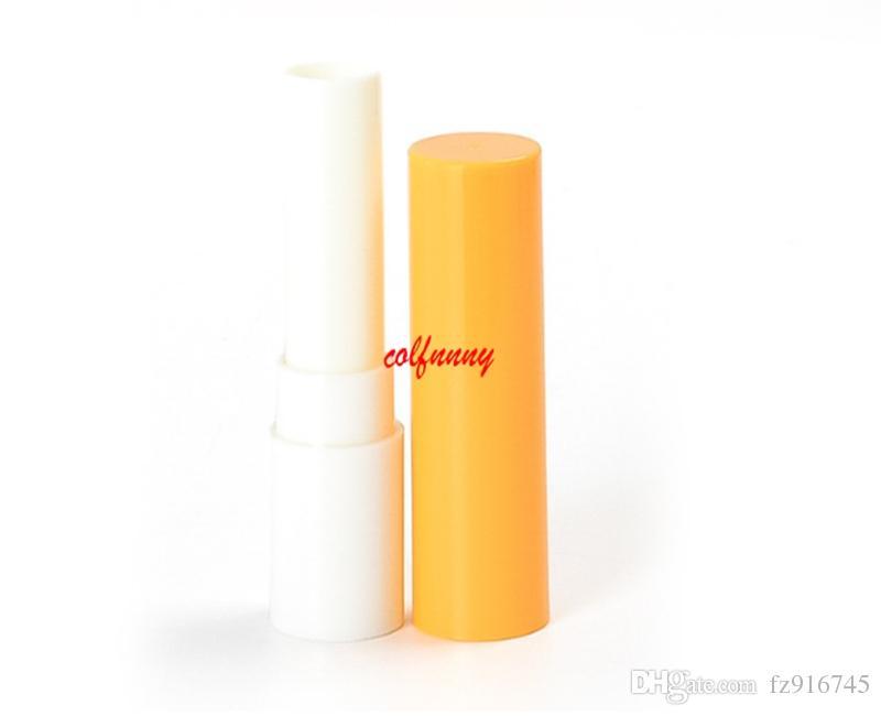 200 adet / grup Hızlı Kargo Dudak Balsamı Tüp şişe, 3.2 ml plastik lipbalm tüpler boş şişe, 3.2g Renkli Ruj moda Tüpler