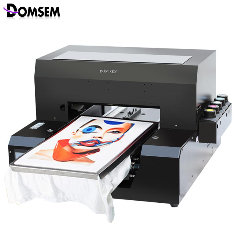 1440 dpi A3 size clothes printing machine uv flatbed printer for t shirt  cloth with multifunction
