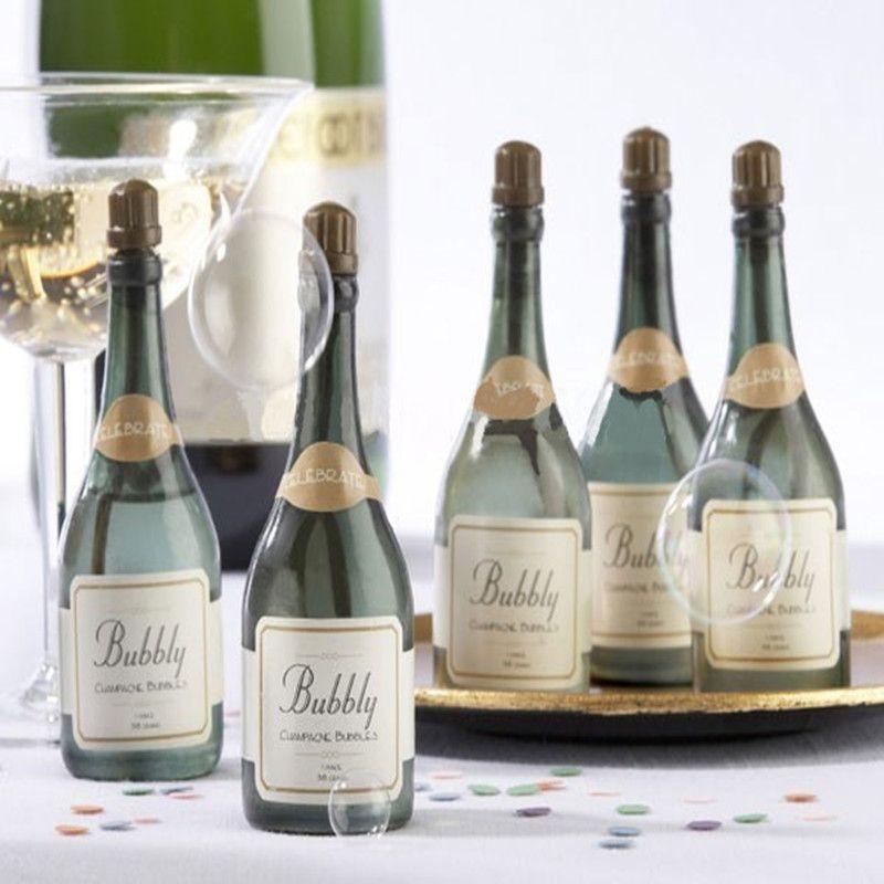 Mini Champagne Bubbles Empty Bottle Wedding Party Favors Reception