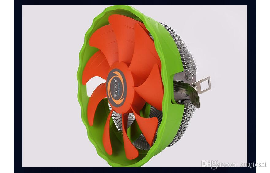 Desktop multi platform CPU fan lntel AMD double heat pipe desktop computer silent radiator fan