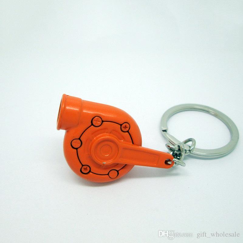 حار بيع توربو المفاتيح غزل توربو التوربينات الشاحن التربيني المفاتيح مفتاح سلسلة حلقة كيرينغ الموجودة أقراط 13 اللون